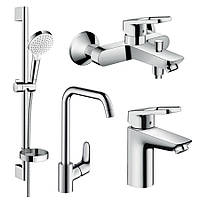 Hansgrohe LOGIS LOOP набор смесителей для ванны, умывальник 100 + кухня (1172019)