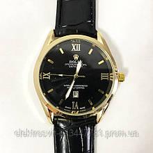 Часы наручные Rolex Black ремешок черный (реплика)