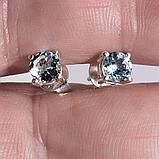 Серебряные серьги с топазом голубым, 562СРТ, фото 2