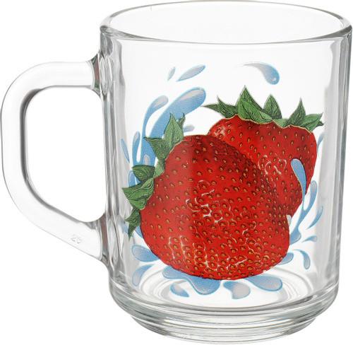 Чашка скляна Green tea Полуниця 200мл ТМ ОСБ