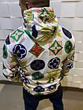Мужская ветровка с водоотталкивающим эффектом с принтом  LV (реплика), фото 2