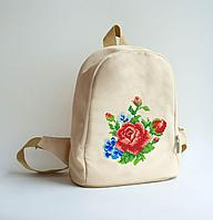 Рюкзак пошитый под вышивку Роза нежность