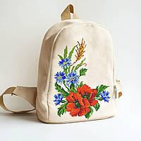 Рюкзак пошитый под вышивку Букет с маками