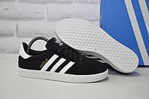 Замшеві чорні кеди в стилі Adidas gazelle унісекс розміри в наявності