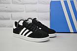 Замшеві чорні кеди в стилі Adidas gazelle унісекс розміри в наявності, фото 2