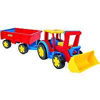 Трактор Wader Гигант с прицепом и ковшом 66300