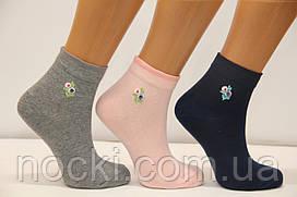 Жіночі шкарпетки середні з вишивкою до-1085 PIER LONE 35-40 асорті