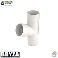Тройник трубы водосточной 90 мм Bryza 125 мм Белый