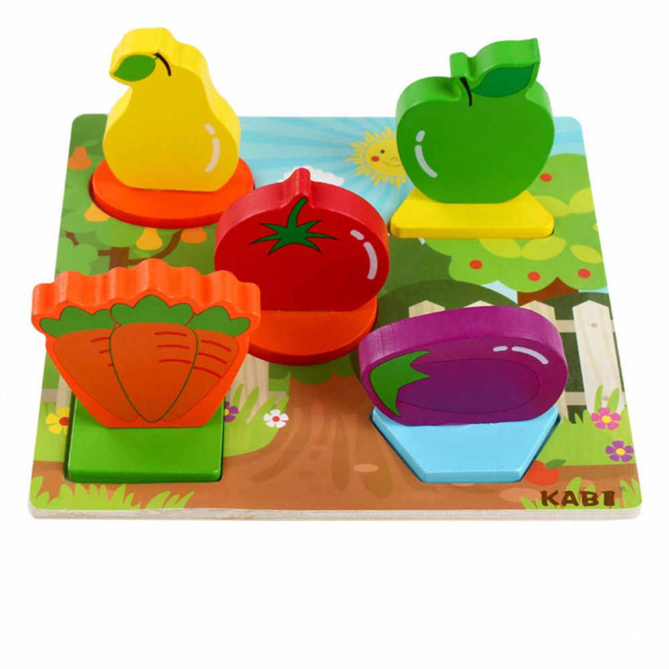 Деревянная игрушка Рамка-вкладыш MD 1508 (Овощи)