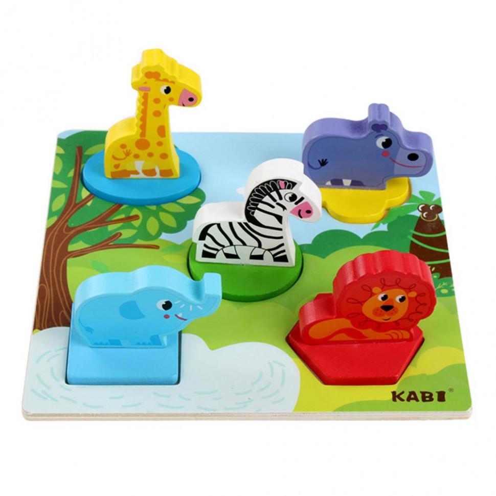 Деревянная игрушка Рамка-вкладыш MD 1508 (Животные Африки)