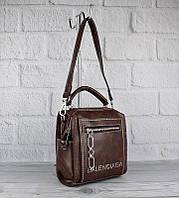 Рюкзак-сумка женский кожзам, коричневый 90681, фото 1