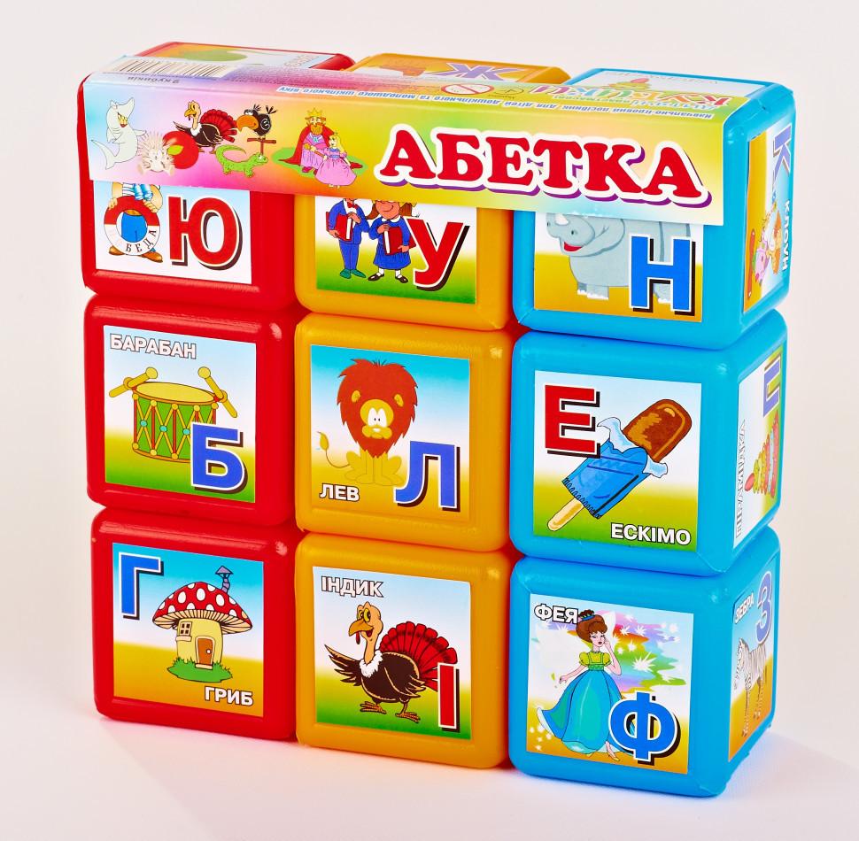 """Кубики """"Абетка   9 шт."""" 06041"""
