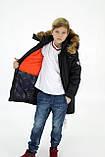 Зимова підліткова куртка,темно-синя, 38-44, фото 2