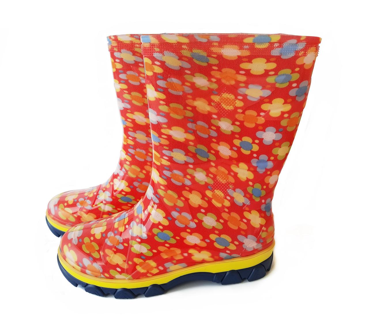 Гумові чоботи дитячі Кольорові Для дівчинки