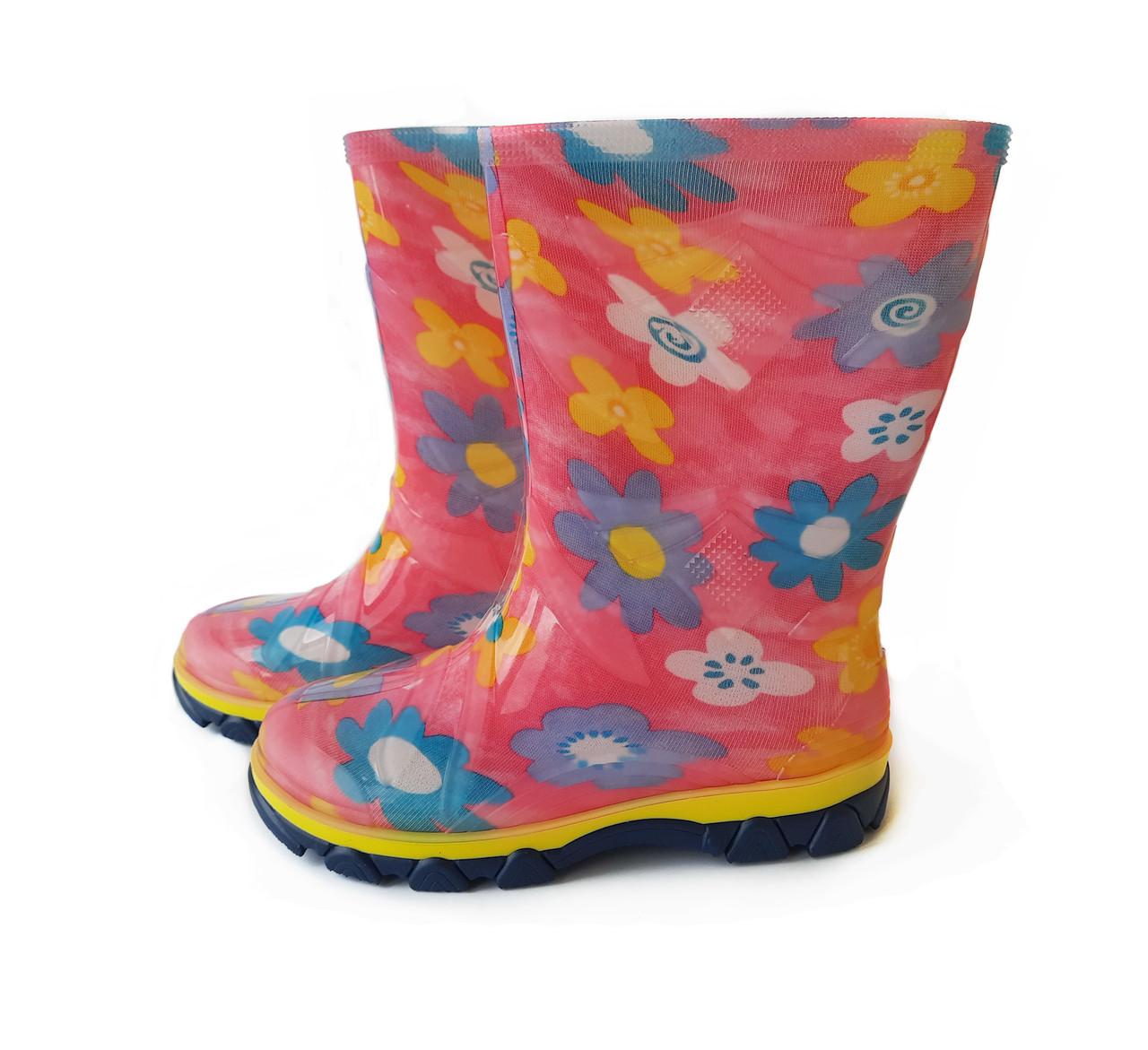 Резиновые сапоги детские Цветные Для девочки