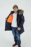 Синя куртка на підлітка зимова, 140-164, фото 2