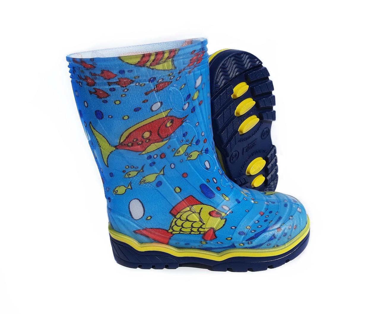 Гумові чоботи дитячі Кольорові Для хлопчика і дівчинки | Розмір 23-26 |