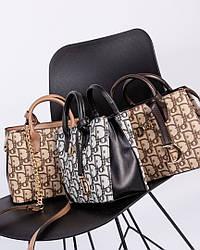 Женская кожаные сумочки с брелком