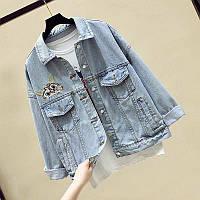 Женская джинсовка с капюшоном 5573 (OS)