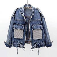 Женская джинсовка с затяжкой 5570 (OS)