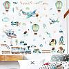 """Наклейка на стену в детсад, в детскую комнату """"самолет в облаках, воздушные шары"""" 80см*90см (листа 50*70см), фото 2"""