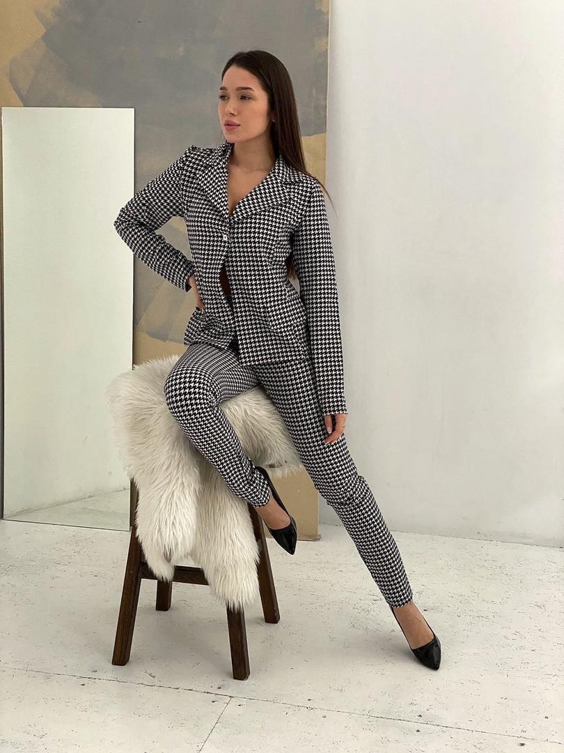 Жіночий костюм, турецька шерсть, р-р С-М; М-Л (світло-сірий)