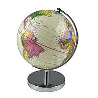Глобус 25 см диаметр Колір: Антиквар крем.С подсветкой, фото 1