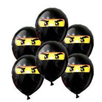"""Кульки повітряні """"Лего Ниндзяго"""" з малюнком поштучно 12"""" (30см) (чорний)"""