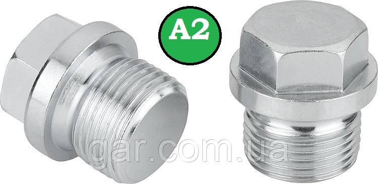 Заглушка DIN 910 M12x1.5 A2