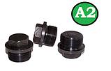Заглушка DIN 910 M12x1.5 A2, фото 4