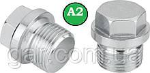 Заглушка DIN 910 M20x1.5 A2
