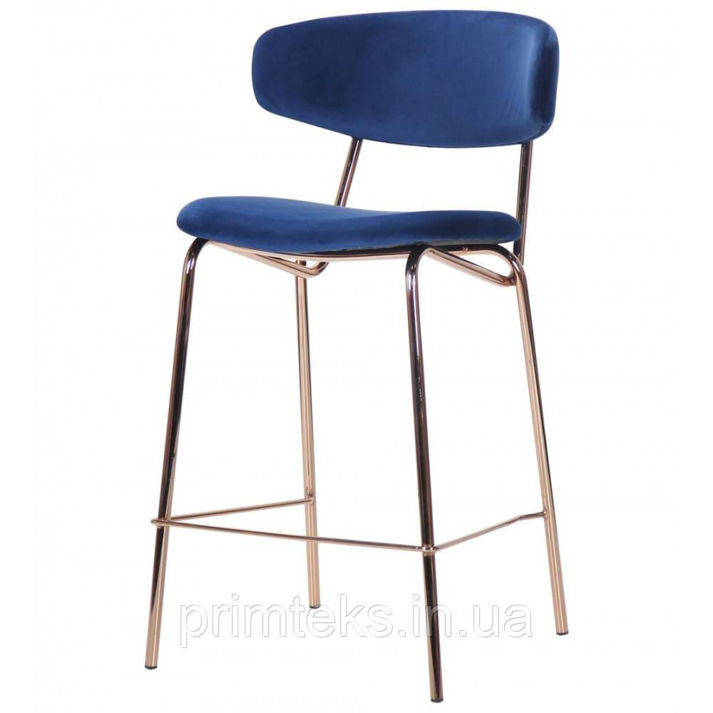 Полубарный стул ALPHABET синий/золотой