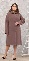 Пальто женское кашемировое -Л-612 пудра