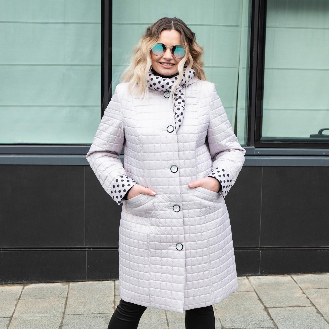 Осенние куртки женские большие размеры  50-60 молочный