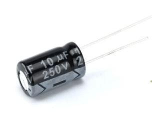 Конденсатор электролитический 10uF 250V 10х13 мм. 1 шт