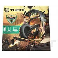 Игровые наушники TUCCI A1 с микрофоном геймерские для компьютера и ноутбука