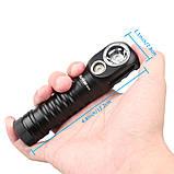 Налобный мощный фонарь WURKKOS Sofirn HD20+5000mAh Аккумулятор Lii-50E (2000LM, USB Type-C, Магнит, NW, 21700), фото 5