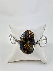 Браслет серебряный с янтарем 1054BRC2-z