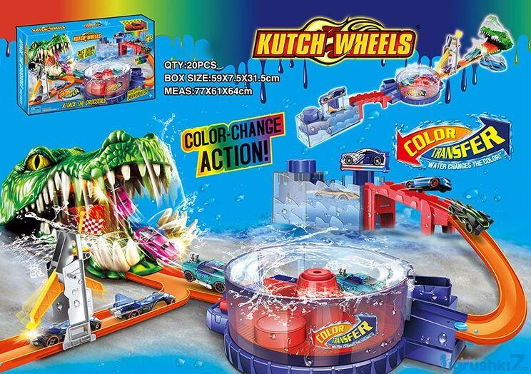 """Трек Автомийка S 8839 """"Пастка Алігатора"""", машинка змінює колір, в коробці"""