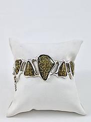 Браслет серебряный с янтарем 364ВRS-z