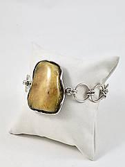 Браслет серебряный с янтарем 1047BRC-m