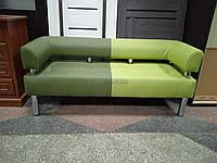 Диван для школы, зала ожидания Стронг Mix (MebliSTRONG) - темно-светло зеленый матовый цвет