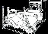 """Кровать металлическая односпальная """"Виченца мини"""". Цвет и размер можно изменить., фото 2"""