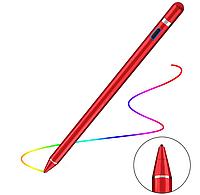 Универсальный Активный Емкостный Металлический Стилус Red pen для телефона, планшета, электронных книг