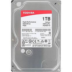 Жесткий диск винчестер HDD SATA 1.0TB Toshiba P300 7200rpm 64MB (HDWD110UZSVA)