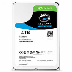 Жесткий диск винчестер HDD SATA 4.0TB Seagate SkyHawk Surveillance 64MB (ST4000VX007)