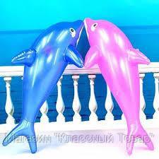 SALE! Надувной дельфин для купания, 80 см СИНИЙ!!!