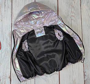 Детская жилетка жилет безрукавка для девочки розовая хамелеон 6-7 лет, фото 2