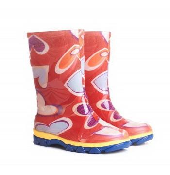 Резиновые сапоги детские цветные Для девочки | Размер 28 |