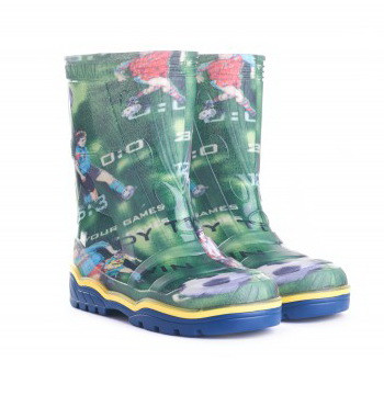 Гумові чоботи дитячі кольорові Для хлопчика   Розмір 23-26  